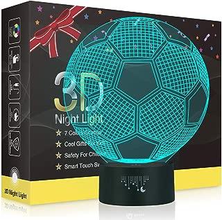 mit USB-Stromkabel Deal Best LED-Nachtlicht in Fu/ßballform 7 Farben f/ür Schalke 04 Fu/ßball-Fans Geschenk 3D-Optische Illusion
