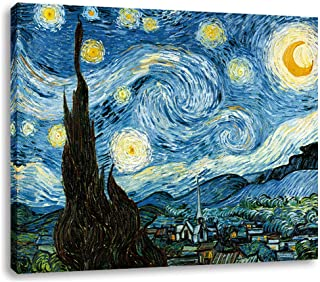 AGCary Vincent Van Gogh Starry Night Poster Wall Decor Print Paintings Canvas Modern Giclee Abstract Landscape Home Decor ...
