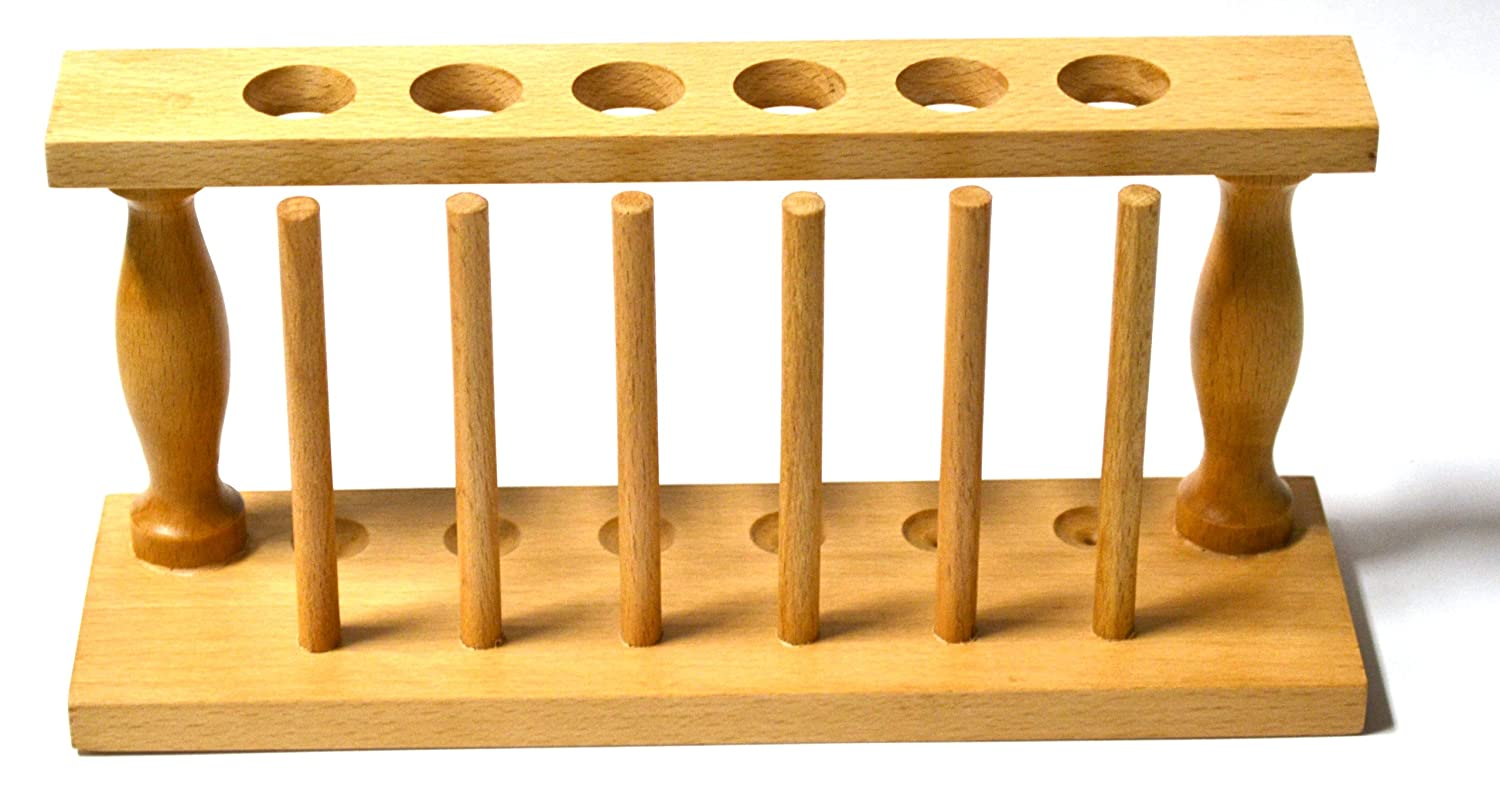 Eisco Labs Wood Test National uniform free shipping Tube Rack up to 4