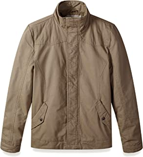WenVen Men's Quilted Military Parka Jacket Long Sleeve Zipper Casual Jacket