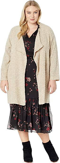 Plus Size Long Flyaway Jacket