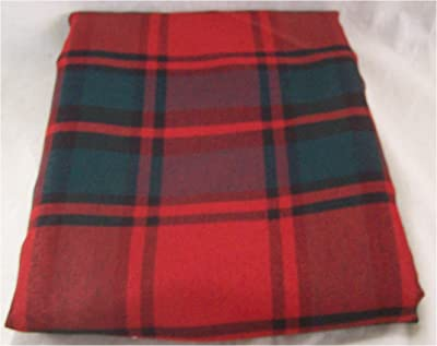 MSX Imports Fabric Christmas Red and Green Plaid Tablecloth 70