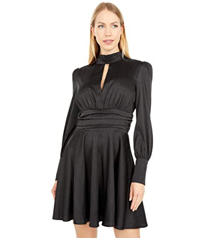 WAYF Holly Mini Snake Dress (Black) Women