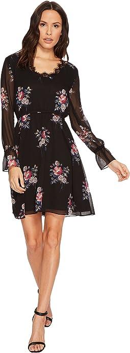 Ivanka Trump - Woven Lace Trim Open Back Dress