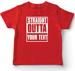 lepni.me Kids T-Shirt Straight Outta Your Own Custom Text Personalized Slogan