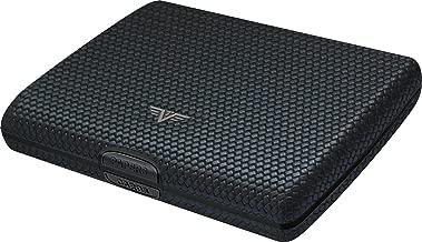 TRU VIRTU Papers & Cards Wallet   Rfid Safe Leather Line (Diagonal Carbon Black)