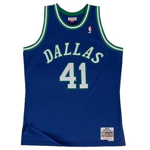 half off 08a7b 06cf1 Mitchell   Ness Dirk Nowitzki 1998-99 Dallas Mavericks Blue HWC Swingman  Jersey