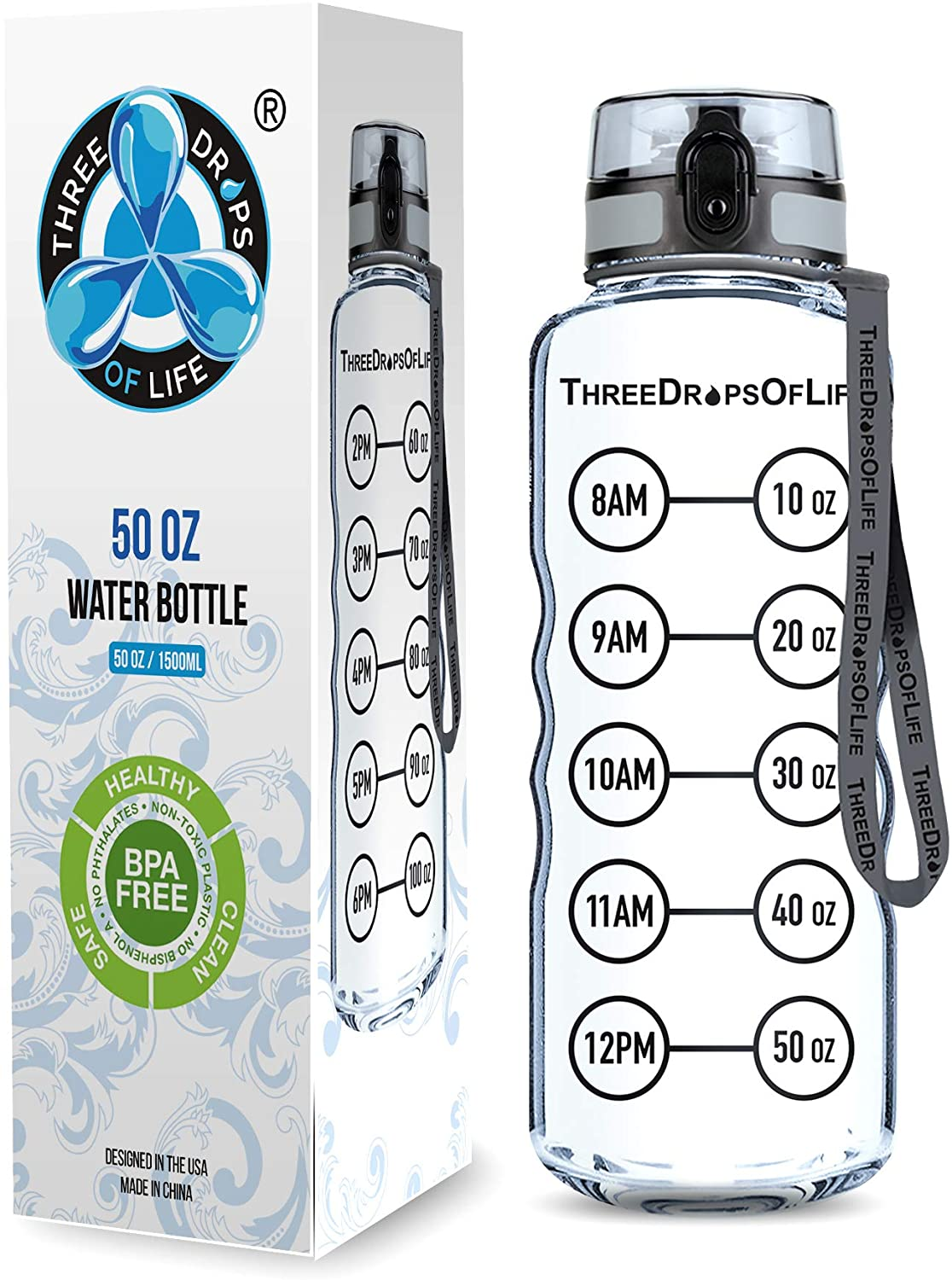 Ranking TOP4 Elegant 50oz Sport Water Bottle - Best for Cle High Capacity Hydration