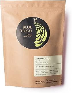 Blue Tokai Coffee Roasters, Attikan Estate, Medium Dark Roast, Premium Single Estate Indian Coffee, 100% Arabica, 8.8 Oz (Whole Beans)
