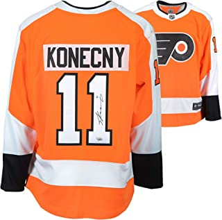 36a333b5e Travis Konecny Philadelphia Flyers Autographed Orange Fanatics Breakaway  Jersey - Fanatics Authentic Certified