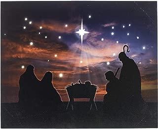 Oak Street Baby Jesus Nativity Scene LED Art 17