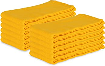 Arkwright Surgical Huck Cleaning Towels, Pack of 12 Absorbent Towel Perfect for your Windows, Glass Painted Metal, Ceramic, Counters, Cabinets (16 x 26 in, Yellow)