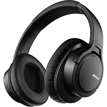 Mpow H7 Bluetooth Headphones, Comfortable Over Ear Wireless Headphones, HiFi Stereo Headset, Wireless Wired Mode, CVC6.0 Microphone for Kids, Adults, Cellphone, Online Class, Home Office, PC