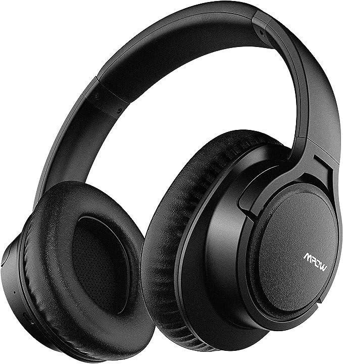 Mpow h7 cuffie bluetooth, cuffie over ear comode, cuffie bluetooth wireless con microfono cvc 6.0 MPBH162AB