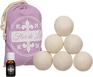 Balles pour sèche-linge en laine avec huile au parfum de talc exclusif, adoucissant, blanchisserie, boules avec parfum pou...