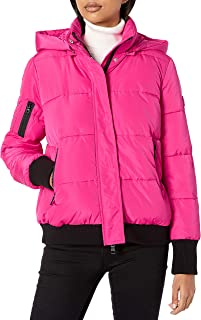 Armani Exchange A|X Women's Outdoor Jacket with Hood and Arm Zipper Detail
