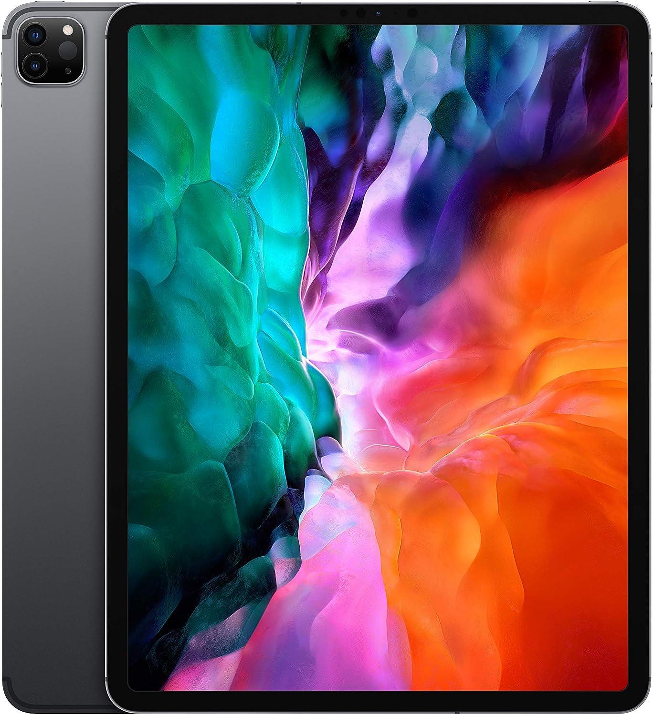 Apple iPad Pro (12.9-inch, Wi-Fi + Cellular, 1TB) - Space Gray (4th Generation) (2020) (Renewed)