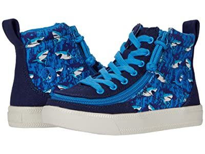 BILLY Footwear Kids Classic Lace High (Toddler/Little Kid/Big Kid) (Blue Sharks) Kids Shoes