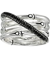 John Hardy - Bamboo Band Ring with Black Sapphire and Black Spinel