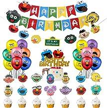 Sesame Street Theme Party Sesame Street Name Sign with Big Bird Centerpiece Sesame Street Birthday Decorations