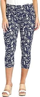 INTRO. Tummy Control High Waist Pull-On Capri Length Cotton\Spandex Legging - Multicolored - XL