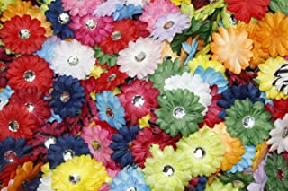(100) in a Bag Soft Mini Daisy Flowers 5.1cm 5.1cm Small Flowers Great for Craft Projects