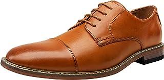 VOSTEY Men's Dress Shoes Oxford Shoes Formal Dress Shoes for Men Business Derby Shoes