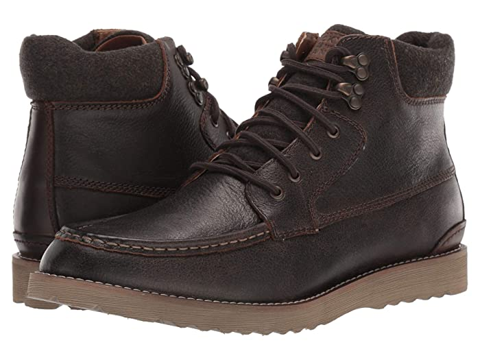Lucky Brand  Stanford (Dark Brown Bomber Jacket Leather) Mens Boots