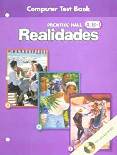 PRENTICE HALL SPANISH REALIDADES COMPUTER TEST BANK LEVEL A, B, 1, 1ST EDITION 2004C