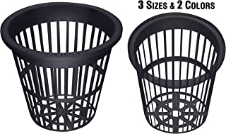 NP3BB: 3 Inch Black Slotted Mesh Net Pot for Hydroponics/Aquaponics/Orchids - 50 Pack