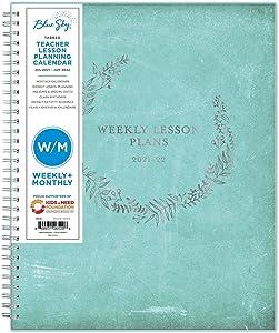 July 2021- June 2022 Academic Weekly/Monthly Teacher Planner 8.5