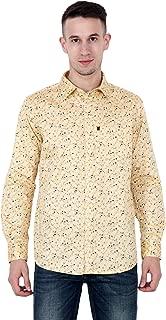 Divtom Men's Gold Cottan Formal Shirt