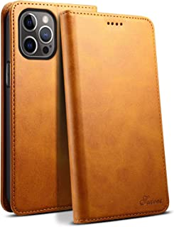 HFQJTU Wallet protective sets for iPhone 12 Pro Max 5g, advanced PU leather, with credit card clip magnetic bracket flip T...