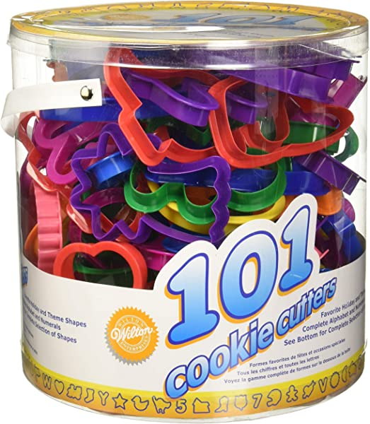 Wilton Cookie Cutters Set 101 Piece Alphabet Numbers And Holiday Cookie Cutters