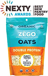 ZEGO Gluten Free Organic Rolled Oats - Double Protein Old Fashioned Oatmeal (14 oz)