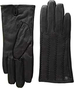 Leather Ruffle Touch Gloves