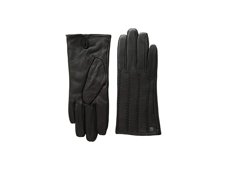 LAUREN Ralph Lauren Modern Hand Crafted Points Touch Gloves (Black 2) Extreme Cold Weather Gloves