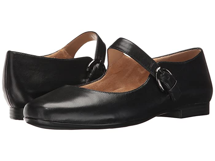 Retro Vintage Flats and Low Heel Shoes Naturalizer Erica Black Leather Womens  Shoes $62.99 AT vintagedancer.com