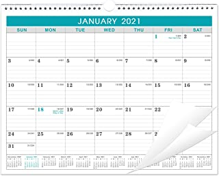 2021 Calendar - Monthly Wall Calendar with Julian Date, Thick Paper Perfect for Organizing & Planning, Yearly Planner + Ye...