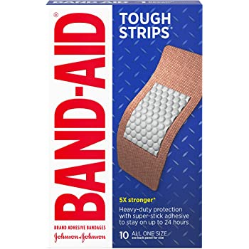 Band-Aid Brand Tough Strips Adhesive Bandages for Wound Care, Durable Protection for Minor Cuts and Scrapes, Extra Large Size, 10 ct (Pack of 2)