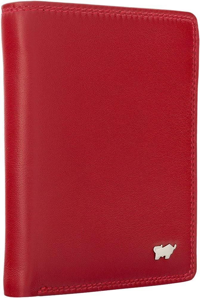 Braun bÜffel, portafoglio, portamonete, porta carte di credito , in vera pelle , unisex , rosso shoulder-handbags