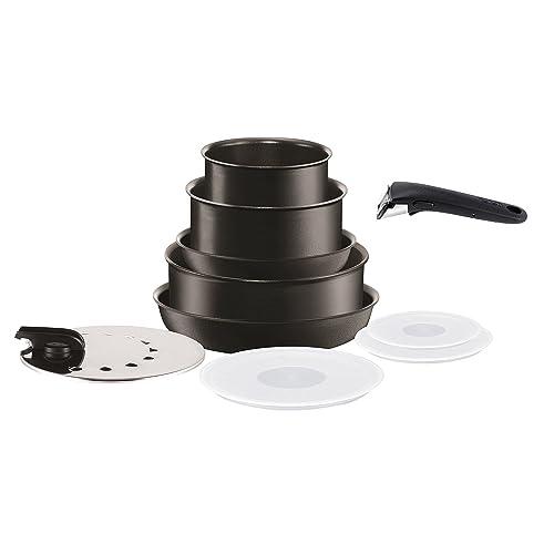 Tefal L6549603 Set de poêles et casseroles - Ingenio 5 Performance Noir 10 Pièces - Tous feux dont induction