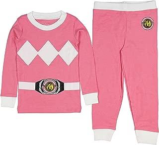 INTIMO Girls' Toddler Mighty Morphin Pink Ranger Pajama Set