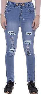 VANGULL Women's Denim Joggers (Blue, Size : 26 to 34)