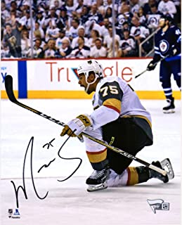 """Ryan Reaves Vegas Golden Knights Autographed 8"""" x 10"""" White Jersey Goal Celebration Photograph - Fanatics Authentic Certified"""