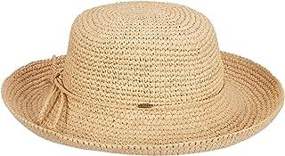 Women's Crocheted Packable Raffia Hat