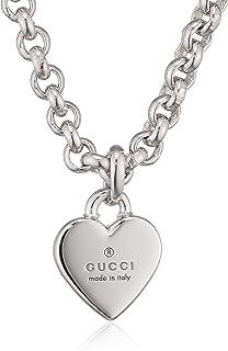 f11c5b48b Gucci YBB35622500100U 55 cm Trademark Women's Chain with Pendant,  Hallmarked 925 Silver, 55 cm