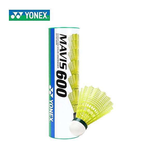 Yonex Mavis 600 Nylon Badminton Shuttlecock,Pack of 6 (Green)