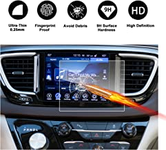 2017 2018 Chrysler Pacifica Hybrid Uconnect Touch Screen Car Display Navigation Screen Protector, RUIYA HD Clear Tempered Glass Car in-Dash Screen Protective Film (8.4-Inch)