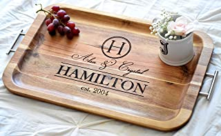 Personalized Serving Tray - Personalized TV Tray with Handles - Breakfast Tray - Breakfast In Bed - Wood Serving Tray Bed Tray Table Breakfast Bed Tray
